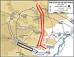 Map of the Battle of Leuthen - December 5, 1757 - The Shift