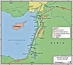 Map of the Levant 1097-1099