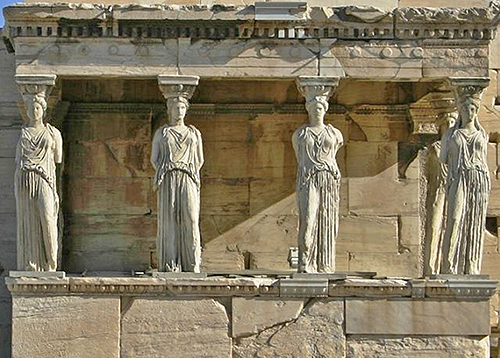 Porch of the Maidens, South Side of the Erechtheum, Acropolis, Athens