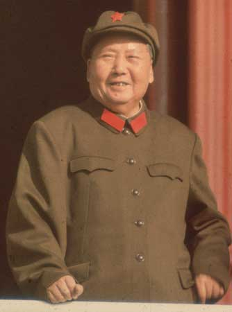 Mao Zedong Gives the Crowd His Charming Smile in 1965