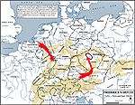 Map of the Thirty Years War: Frederick's Defeat 1620