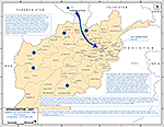 History Map of Afghanistan 2001. Aerial Attack Phase One, Fixed Targets, September 9 - October 18, 2001.