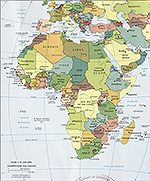 Map of Africa 2010