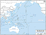 Map of World War II: The Far East and the Pacific 1941. Major Allied Forces and Positions, December 1941.