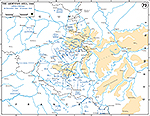 Map of World War II: Ardennes. German Counter-Offensive. Operations December 26, 1944 - January 16, 1945.