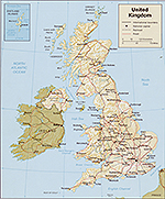 Map of the British Isles / United Kingdom 1987