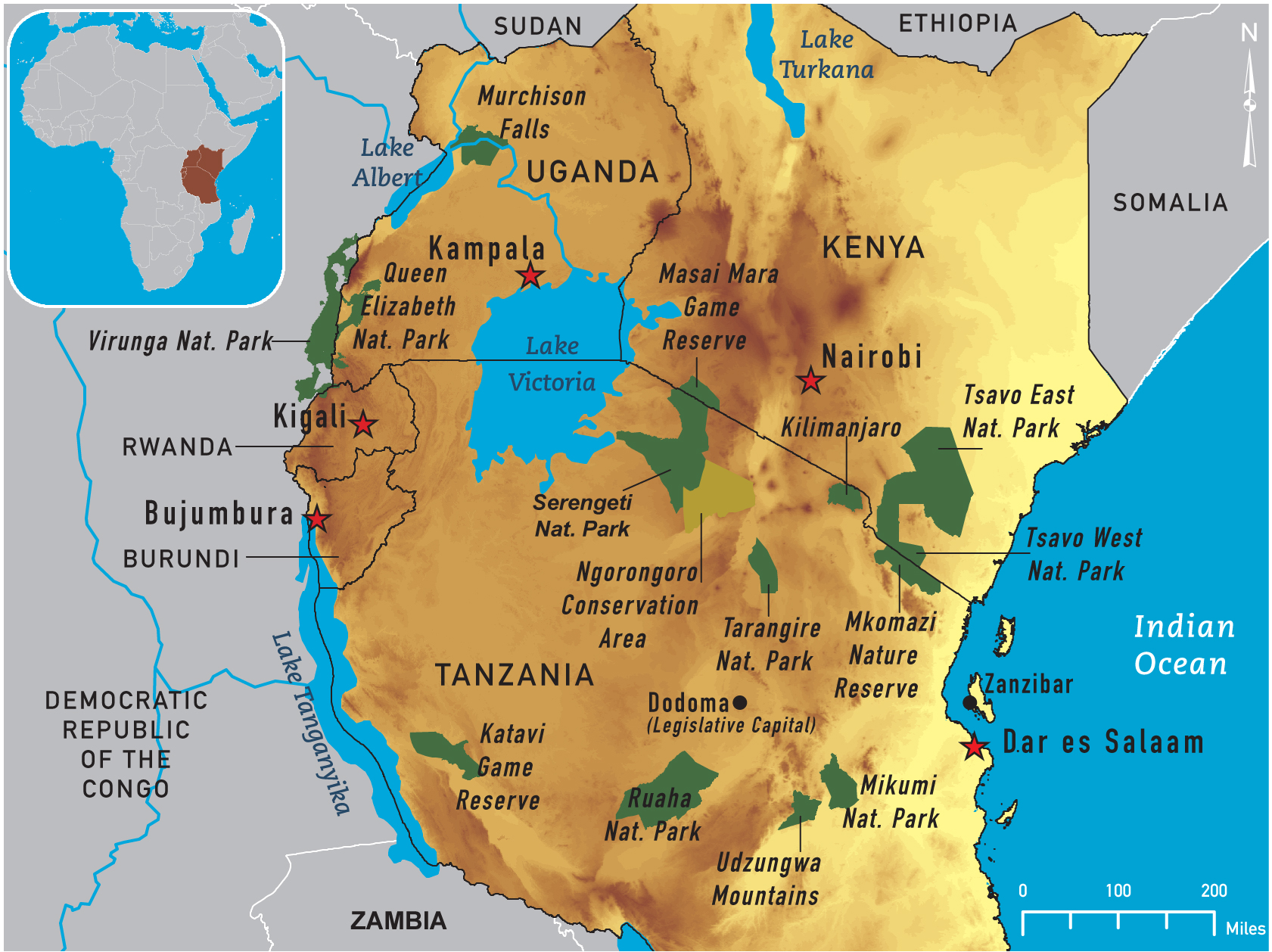 Map of East Africa 2011