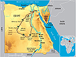 Map of Egypt 2011