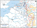 Map of World War II: Western Europe, 21st Army Group, Operations September 15 - December 15, 1944