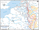 Map of World War II: Western Europe, 6th and 12th Army Group, Operations September 15 - November 7, 1944