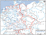 Map of World War II: Germany. Final Operations April 19 - May 7, 1945.