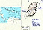 History Map of Grenada 1983. Operation URGENT FURY, October 23, 1983.