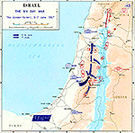 History Map of Israel: The Six Day War, The Jordan Salient, June 5-7, 1967.