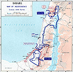 Map of Israel: War of Independence. October 1948 Battles.