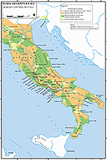 Map of Italy 338-100 BC