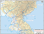 Map of the Korean War: North Korea. U.N. Chinese Communist Offensive, Situation December 5, 1950, Operations November 26 - December 15, 1950.