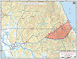 Map of the Korean War: Central Korea. Communist Spring Offensive (Second Impulse), Situation on May 20, 1951, Operations Since May 14, 1951.