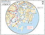 Map of the Korean War: South Korea. U.N. Offensive, Situation September 26, 1950, Operations Since September 15, 1950. Close-Up.