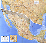 Map of Mexico and the US-Mexican Border 1993