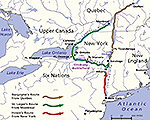 The Original Plan for the British Invasion of New York � June-October 1777 / Oriskany Battlefield