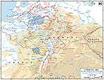 Map of World War II: European Western Front, Encirclement of the Ruhr, March 29 - April 4, 1945