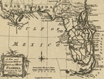 Map of the Floridas: East and West Florida 1763