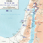 Map of the Third Arab-Israeli War 1967