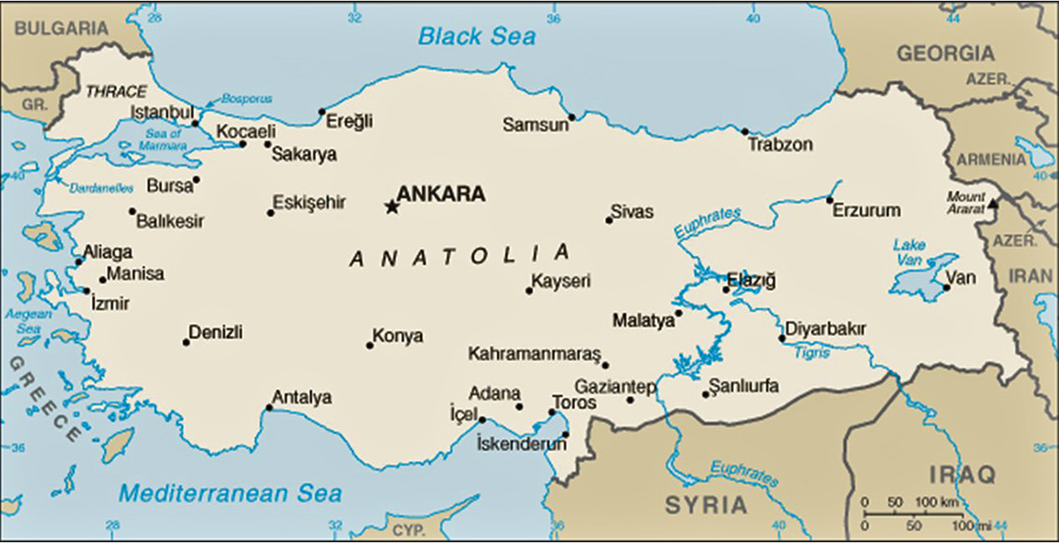 Map of Turkey 2010