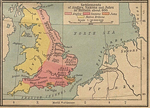 Settlements of Angles, Saxons and Jutes in Britain about 600