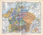 Central Europe about 1547. Insets: Principality of Orange. Wettin Lands, 1485-1554.