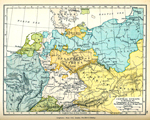 Central Europe - To Illustrate the Campaigns of Napoleon. The Frontiers are those of August 6, 1806