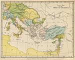 History Map: The Era of the Crusades, 1095 - 1272.
