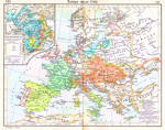 Europe about 1740. Inset: The Growth of Savoy, 1418-1748.