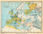 Europe in the time of Odoacer, 476-493. Inset: South-Western Europe in 525