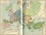 Map of Europe and the Byzantine Empire about 1000
