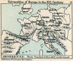 Universities of Europe in the 16th Century