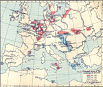 Principal Seats of War in Europe 1672-1699