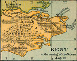Kent at the coming of the Saxons in 449