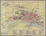 Map of London about 1300