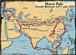 Marco Polo Travels Between 1271 and 1295
