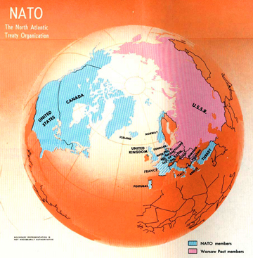 NATO and Warsaw Pact - Map 1970