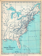 Map of the American Colonies