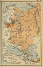 Map of Russia in 1725