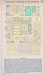 Ground Plan of St. Gall Monastery, Switzerland; ca. 819-826 A.D.