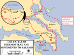 Map of the Battle of Thermopylae, 480 BC