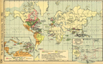World Map 1700 - 1763