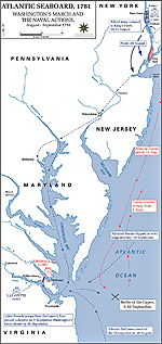 Map of the March to Yorktown 1781