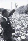 Martin Luther King Jr giving his I Have a Dream speech