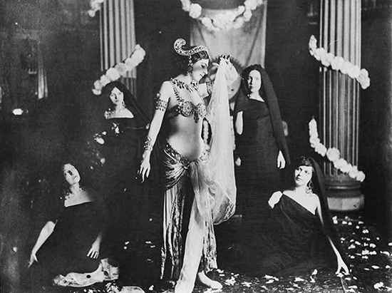 Mata Hari notwithstanding the occasional Greek stage decoration