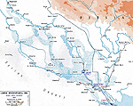 Map of WWI: Mesopotamia 1914 - Anglo-Indian Invasion